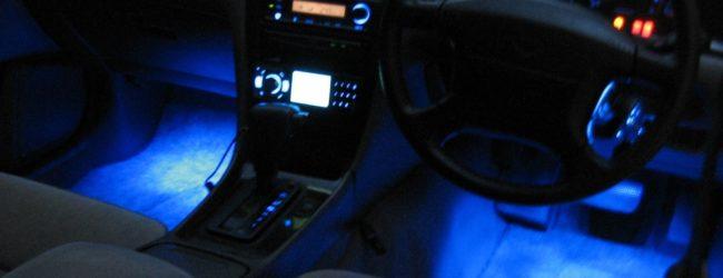 Подсветка ног в салоне автомобиля
