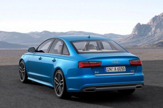 Вид сзади Audi A6 2015