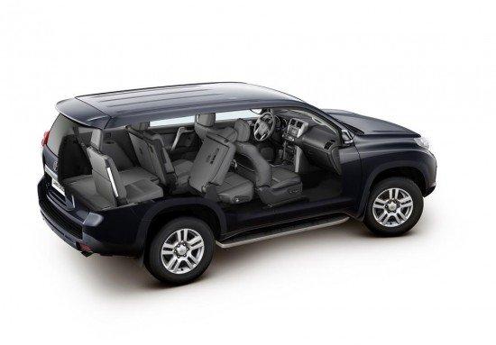 Toyota Land Cruiser Prado: вид сбоку