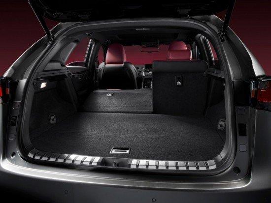 Автомобиль Lexus NX 300h: багажник