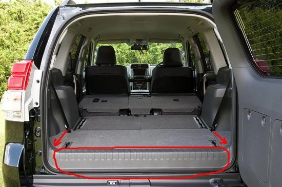 Toyota Land Cruiser Prado: багажник