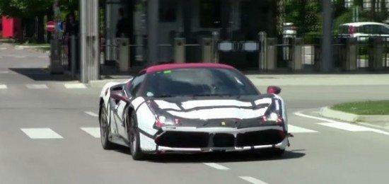 Ferrari 488 GTS Spider на тестах в Маранелло