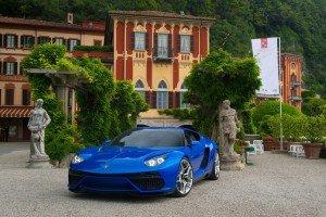 Lamborghini Asterion возле замка на берегу озера Комо
