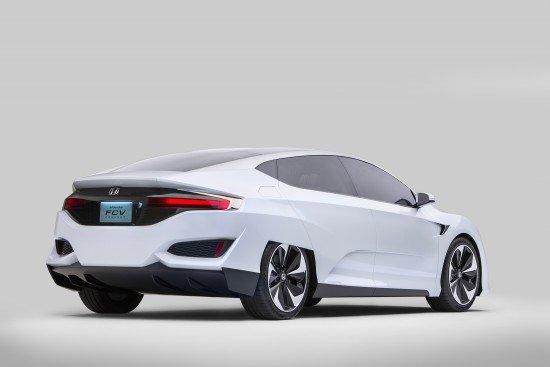 Honda FCV Concept. Вид сзади