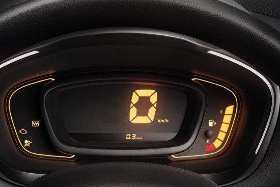Дисплей на панели приборов Renault Kwid
