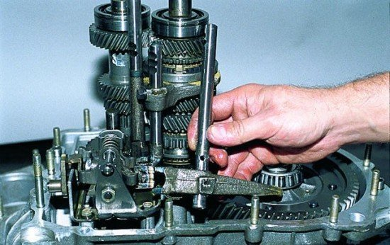 Вывод вилки из зацепления КПП