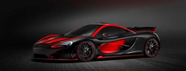 McLaren P1 в черно-красном окрасе