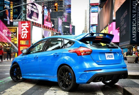 Новый Ford Focus RS. Вид сзади.