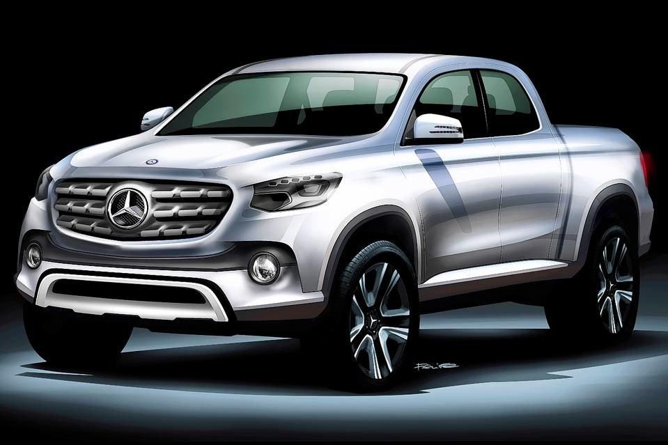Эскиз пикапа Mercedes-Benz
