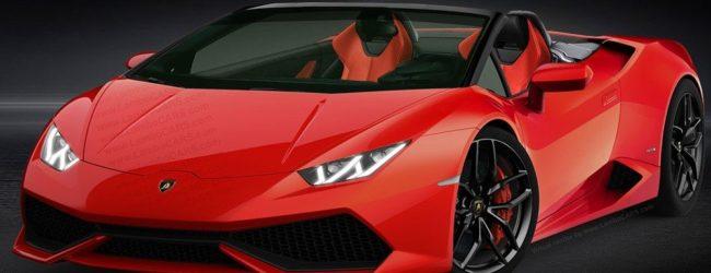 Lamborghini Huracan Cabrio красного цвета