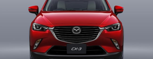 Mazda CX-3 красного цвета, вид спереди