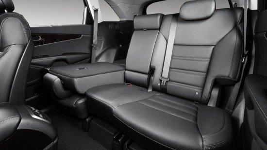Новый кроссовер Kia Sorento Prime 2015, задние сиденья