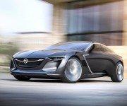 Opel Monza Concept серого цвета, вид спереди