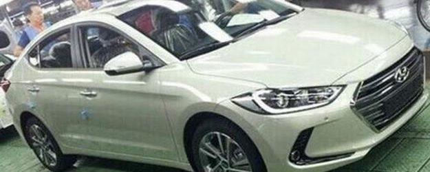 Новый Hyundai Elantra 2016 белого цвета, вид спереди