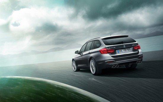 Универсал BMW Alpina D3 Bi-Turbo серого цвета, вид сзади