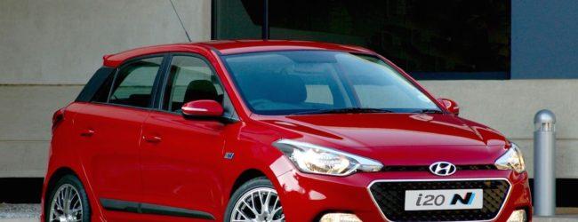 Hyundai i20 N Sport красного цвета, вид спереди