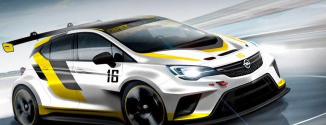 Скетч нового спортивного Opel Astra TCR, вид спереди