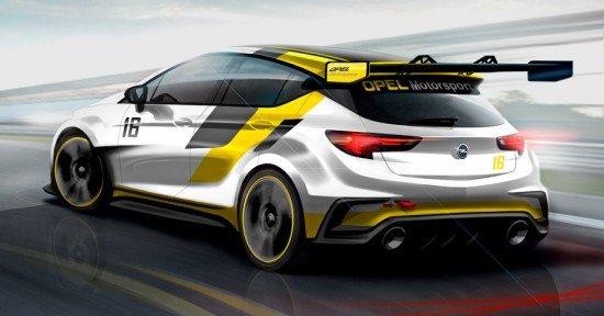 Скетч нового спортивного Opel Astra TCR, вид сзади