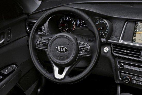 Kia Optima 2016, руль и часть приборной панели