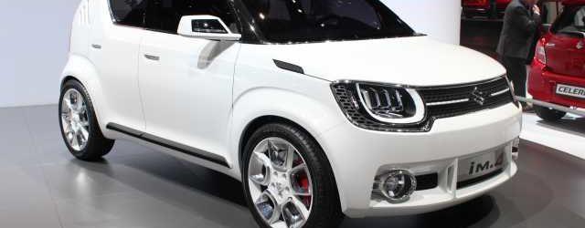 Концепт Suzuki iM-4 белого цвета, вид спереди