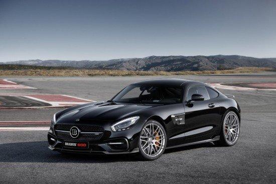 Mercedes-AMG GT S Brabus чёрного цвета, вид спереди