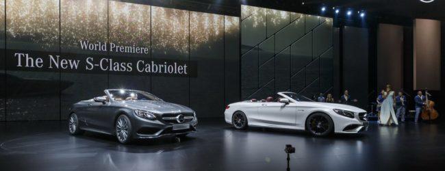 Автошоу во Франкфурте, Mercedes-Benz S-Class Cabriolet, вид спереди