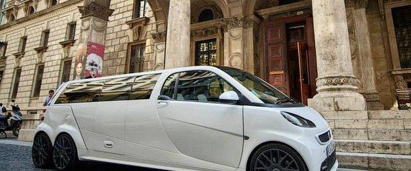 Лимузин Madeforsix белого цвета, вид сбоку