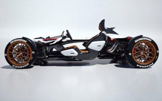 Концепт Honda Project 2&4, вид сбоку