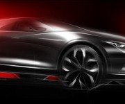 Эскиз нового спортивного кроссовера Mazda, вид сбоку