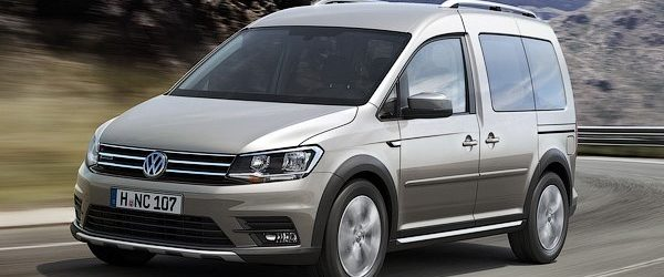 Volkswagen Caddy Alltrack 2016 цвета металлик, вид спереди
