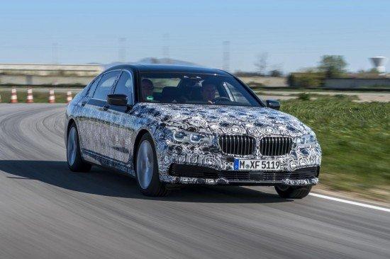 BMW 7-Series в камуфляже, вид спереди