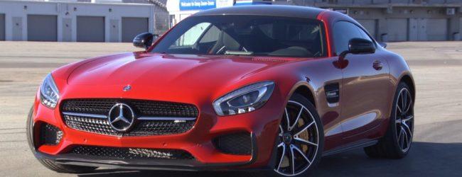Mercdes-AMG GT красного цвета, вид спереди