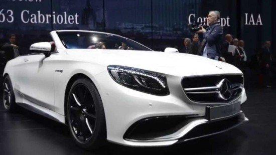 Mercedes-Benz S-Class Cabriolet белого цвета, вид спереди