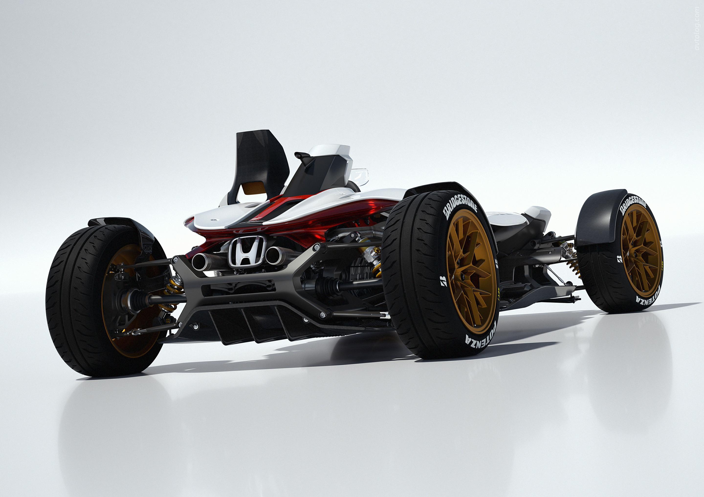 Концепт Honda Project 2&4 белого цвета, вид спереди