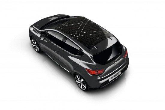 Renault Clio Iconic серого цвета, вид сверху