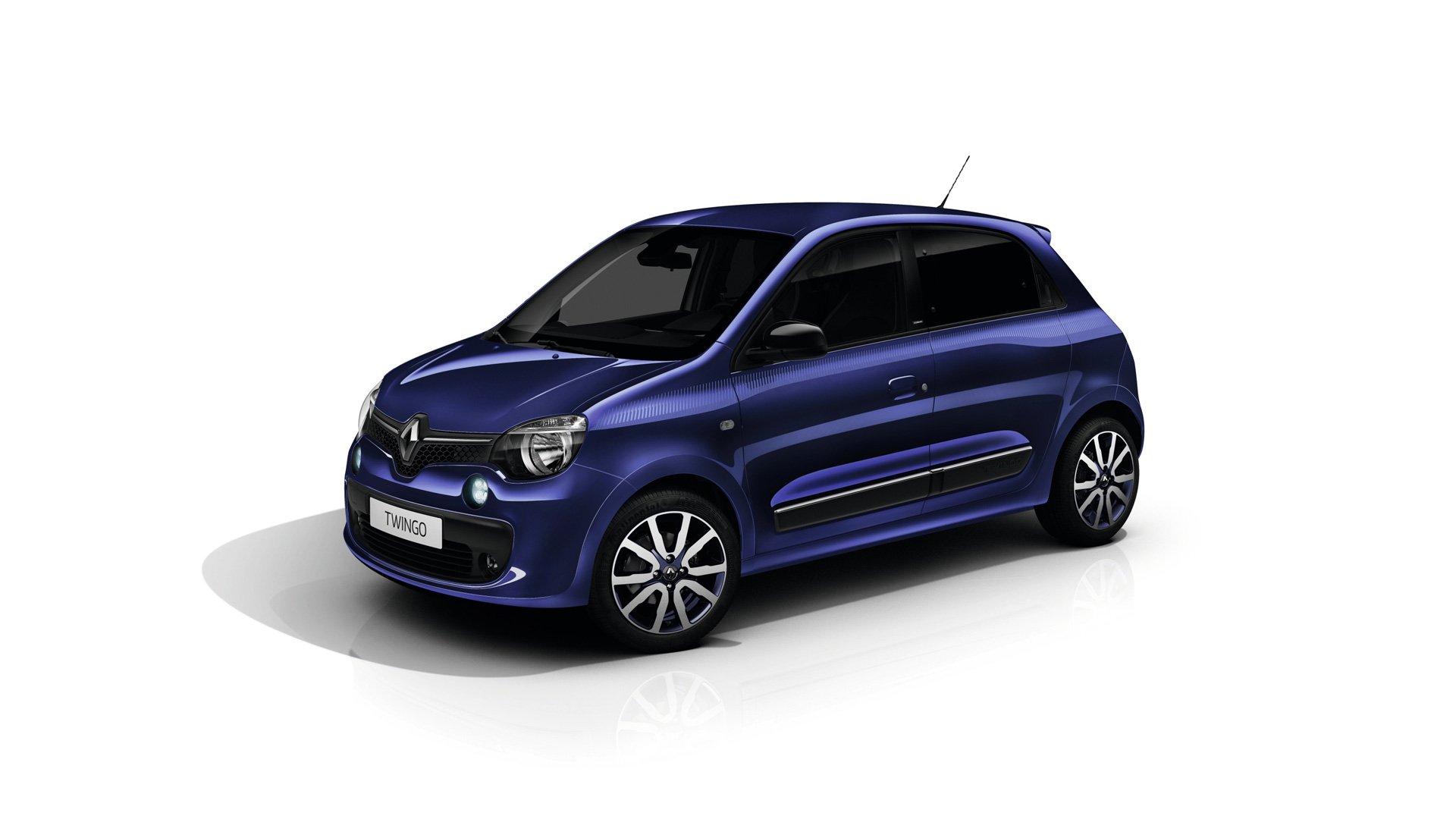 Renault Twingo Cosmic цвета Ultraviolet, вид сбоку