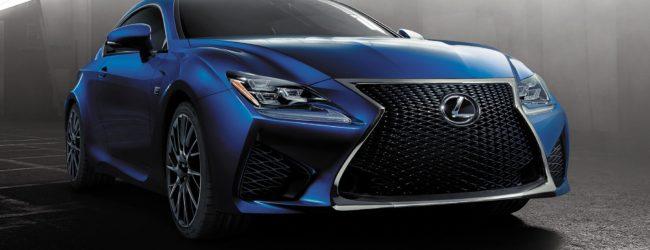 Lexus RC Coupe синего цвета, вид спереди