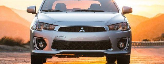 Mitsubishi Lancer 2016 цвета металлик, вид спереди