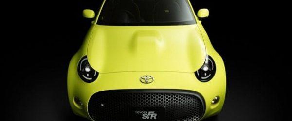 Концепт Toyota S-FR салатового цвета, вид спереди