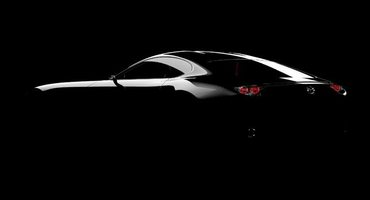 Mazda Sports Coupe Concept чёрного цвета, вид сбоку