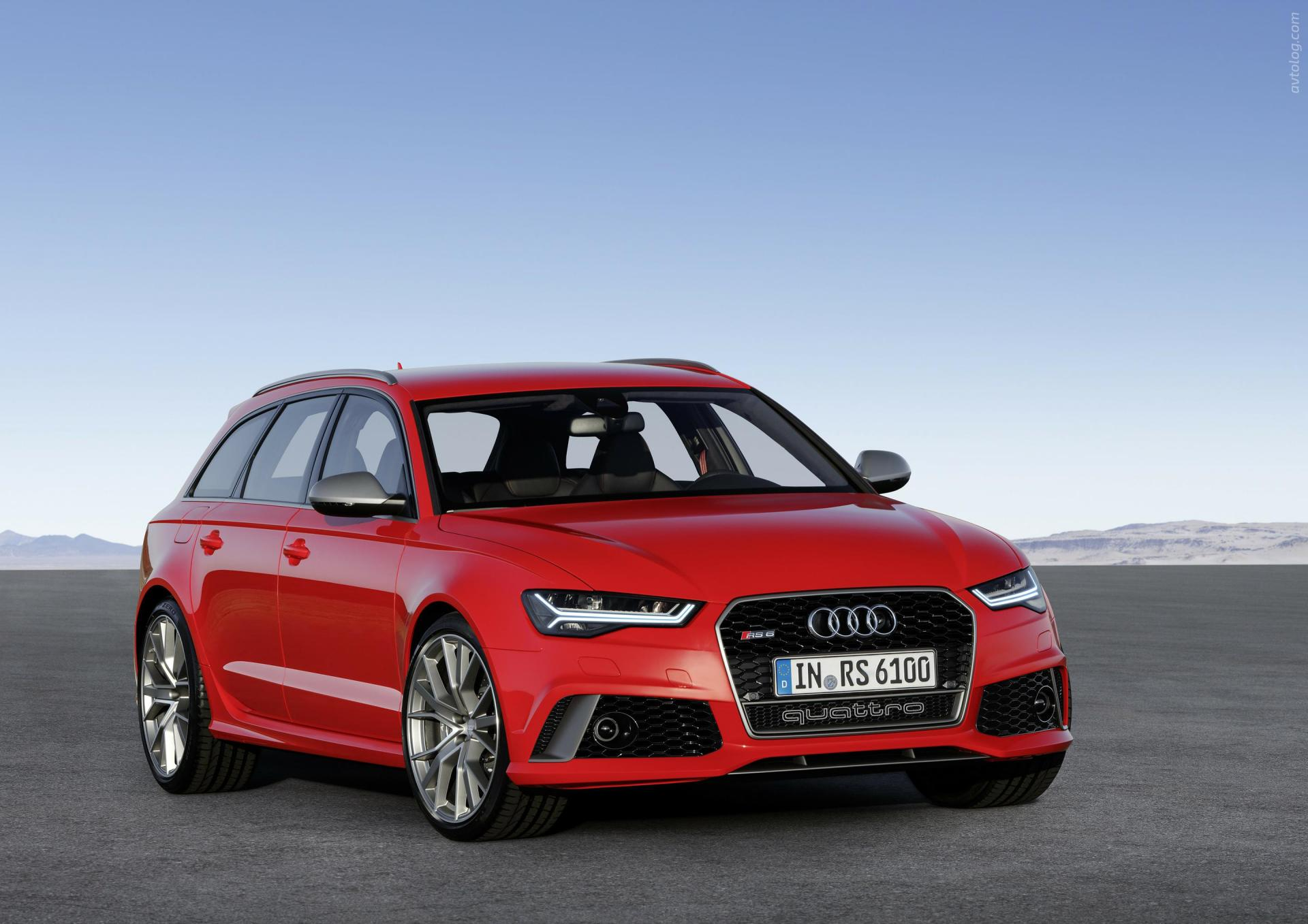 Audi RS 6 Avant Performance красного цвета, вид спереди