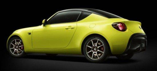 Концепт Toyota S-FR салатового цвета, вид сзади