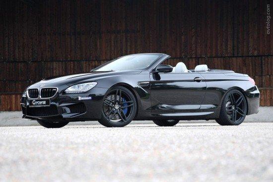 BMW M6 Convertible G-Power чёрного цвета