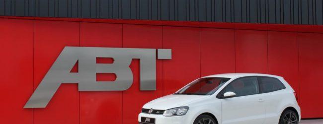 Volkswagen Polo GTI ABT белого цвета, вид сбоку
