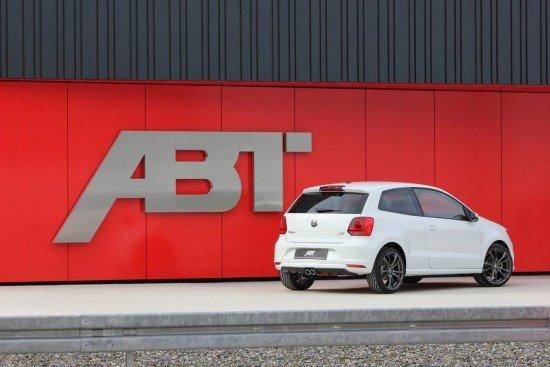 Volkswagen Polo GTI ABT белого цвета, вид сзади
