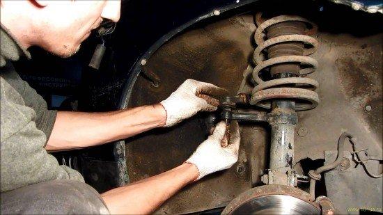 Как снять рулевой наконечник на ваз