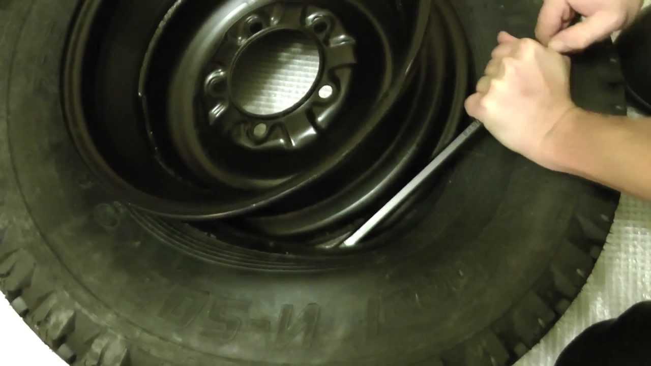 разбортировка колеса