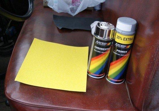 Баллончик с хром-краской для восстановления поверхности рефлектора