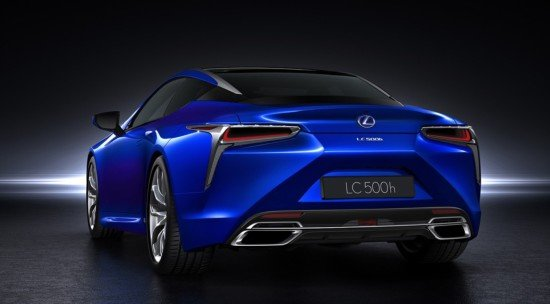 Lexus LC 500h, вид сзади