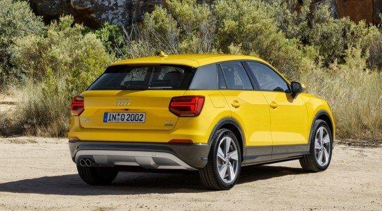 Audi Q2, вид сзади
